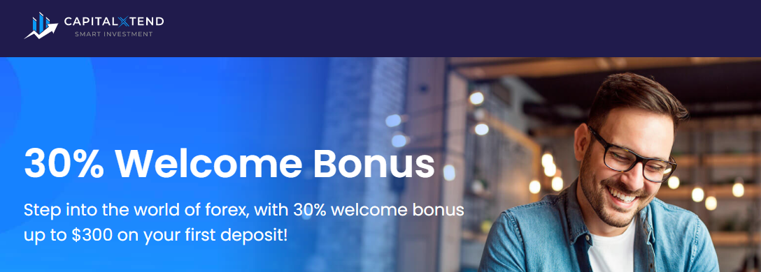Get 30% Forex Welcome Deposit Bonus offer on CapitalXtentd