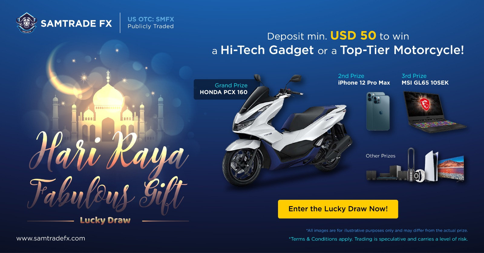 Take Hari Raya Fabulous Gift Lucky Draw on SamtradeFX