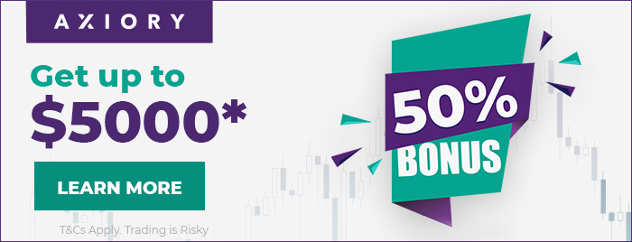 Get 50% Forex Deposit Bonus Promotion offer on Axiory