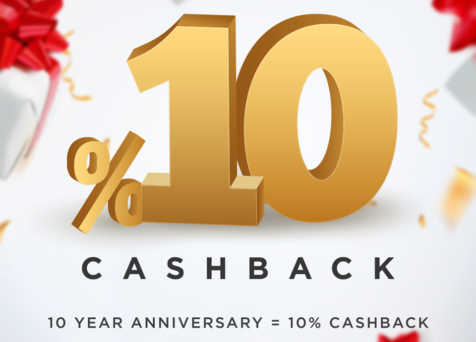 Get 10% Cashback to Join 10th Anniversary of FortFS