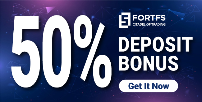 Receive up to 50% Forex Welcome Deposit Bonus on FortFS