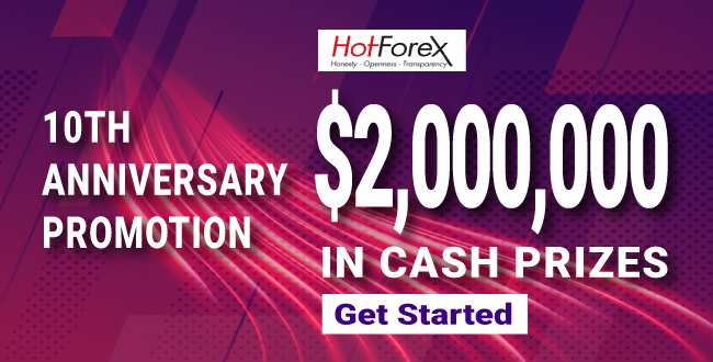 Get up to $2,000,000 in Cash 10th anniversary Program of HotForex