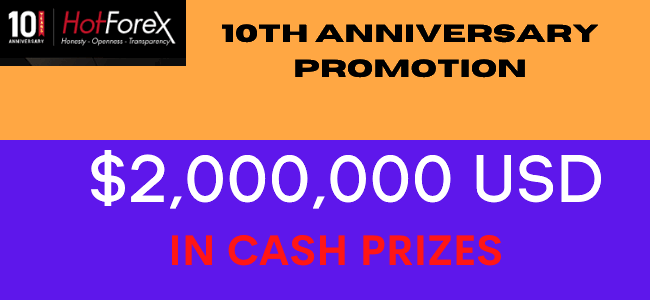 Receive up to $2,000,000 to Join 10th Anniversary of HotForex