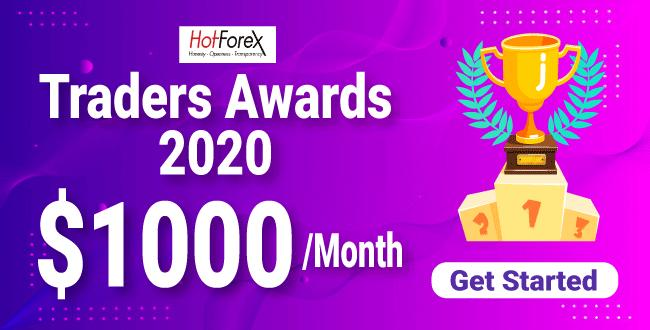 Take Monthly $1000 To Participate Traders Awards 2020 on HotForex