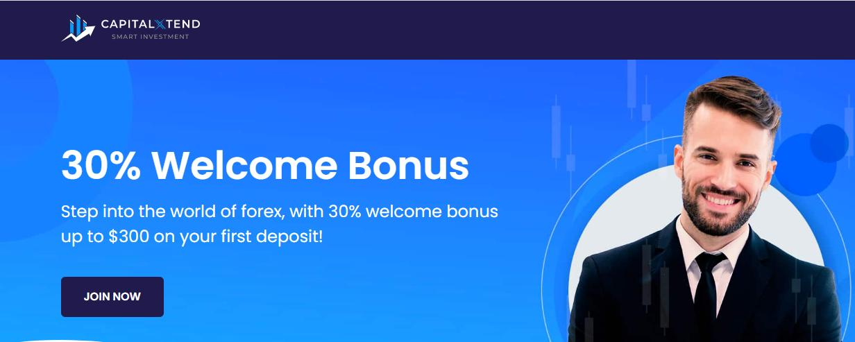 Achieve Barely Credible  30% FX Welcome Trading Bonus on CapitalXtentd