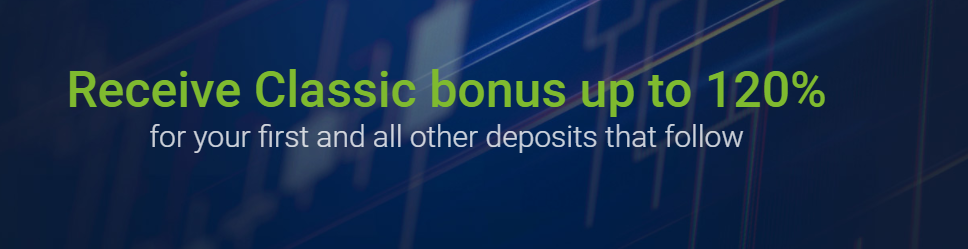 Get Up to 120% Forex Classic Deposit Bonus up to $50,000 on RoboForex