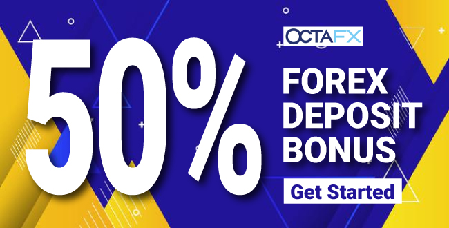 Receive 50% Forex Welcome Deposit Bonus offer on OctaFX