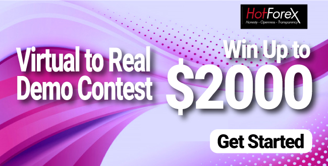 Win $2000 to Participate in Virtual to Real Demo Contest on HotForex