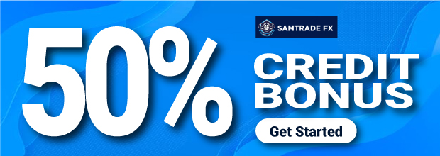 Get 50% Credit Bonus and $5000 CashBack on SamTradeFX
